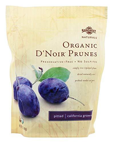Sunsweet Naturals Organic D'Noir Prunes - Case of 12-7 oz.