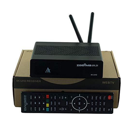 ZGEMMA - H9.2S, con 2 DVB-S2X, sintonizador de transmisión múltiple, 4 K, UHD, 2160p, sintonizador doble, receptor de satélite, wifi incorporado