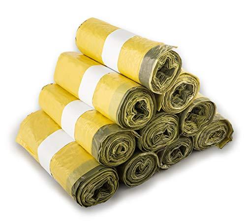 extra starke Gelbe Säcke - Wertstoffsack mit Zugband, 90 Liter, 22µ Materialstärke - Gelber Sack (10 Rollen)