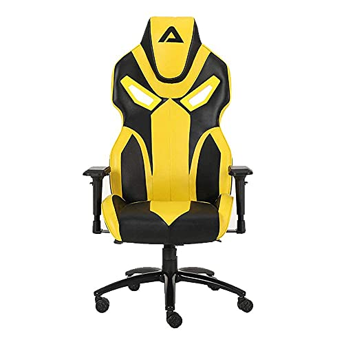 ASTRIX Monza Series Gaming Chair, Leather Computer Office Chair, 4D Adjustable PU Armrest Game Chair, 160 Degree Gaming Recliner Rocker with Lifetime Frame Warranty (ASTRIX_Monza_160_Yellow)