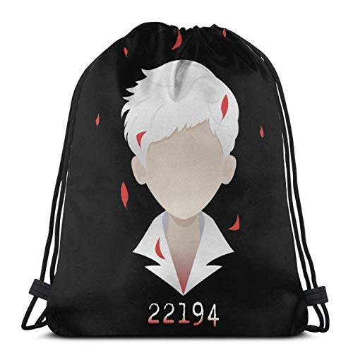 Yuanmeiju Drawstring Bag Sport Gym Sack Party Favor Bags Wrapping Gift Bag Mochila con cordón Storage Goodie Bags Cinch Bags Promised Neverland Norman