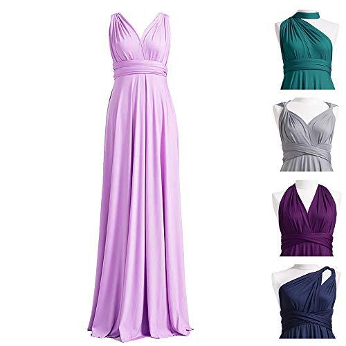 SHANGSHANGXI Convertible Bridesmaid Dresses Long Infinity Multiway Wrap Wedding Party Dress for Women Lavender 2