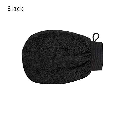 shihao159 extreme comfort massage reiniger Rayon douche scrubber lichaam wrijven bad handschoen exfoliërende handdoek (zwart)