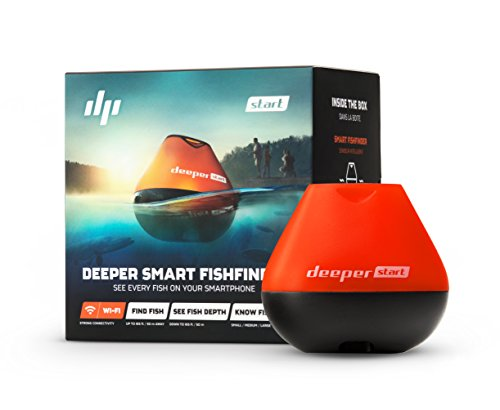 Deeper Unisex's Start Fishfinder Portable, Black/Orange, Small