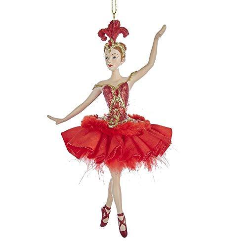 Kurt Adler Pájaro del Fuego de la Bailarina Rojo Atractivo de 7 Pulgadas Resina Piedra de Navidad del Ornamento Figurita
