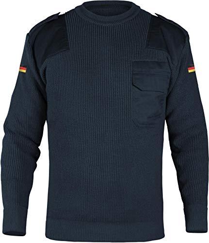 normani Herren Bundeswehr Pullover Original nach TL Winterpulloverullover mit Brusttasche und Deutschlandfahne Farbe Marine Größe M/50