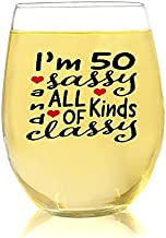 50 Sassy, Funny 50th Birthday Gift For Women 1971, Fabulous 50th Birthday Wine Glass For Women, Photo Booth 50th Birthday Ideas For Her, Unique 50th Bday Gifts Women, Womans 50th Birthday Gift For Mom