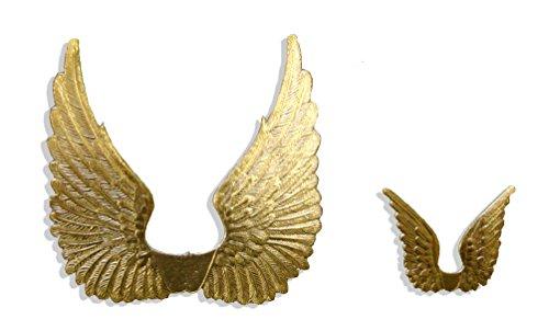 Kunze A060789111 Engelsflügel, 8 Stück, Geprägtes Papier, Gold