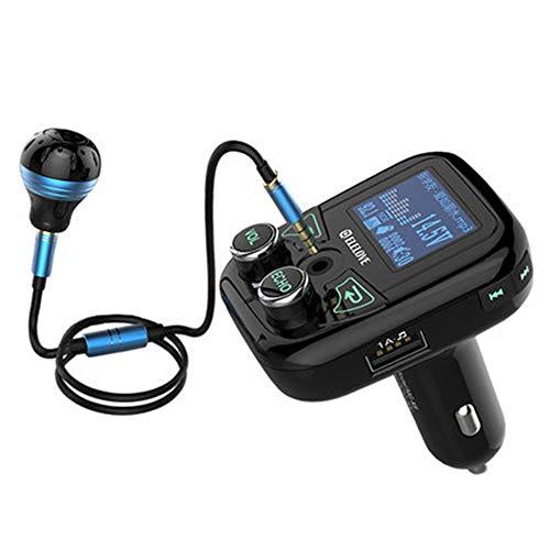 WangKM Bluetooth mp3-speler karaoke-microfoon handsfree U-disk auto muziek sigarettenaansteker oplader beschikt over een eigen karaoke-systeem, kan ook in de auto worden gezaagd