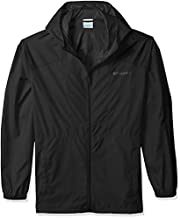 Columbia mens Flashback Windbreaker Jacket, Water Resistant Jacket, Black, X-Large US