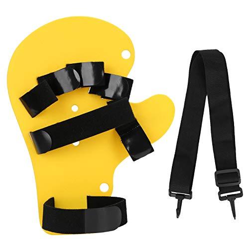 Separador de dedos Tablero de entrenamiento ortopédico para dedos Hemiplejía Férula para dedos de mano Hombres Mujeres Diapasón de mano izquierda y derecha (tipo cabestrillo)(Amarillo)