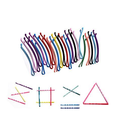 90 Stück Bobby Pins, Regenbogen Farbige Haarnadeln, Macaron Haarnadel für Kinder Dame Frauen Mädchen, Haar-Styling-Schmuck Haarspangen Zubehör Haarspangen(Boxed)