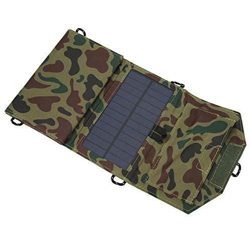 con interfaz USB Panel de cargador solar portátil plegable para luz doméstica pequeña para luz solar de jardín para farola solar para carga de teléfono(Camouflage)