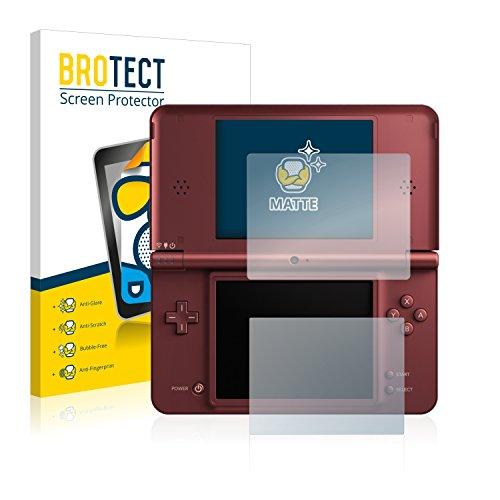 BROTECT Protector Pantalla Anti-Reflejos Compatible con Nintendo DSi XL (2 Unidades) Pelicula Mate Anti-Huellas