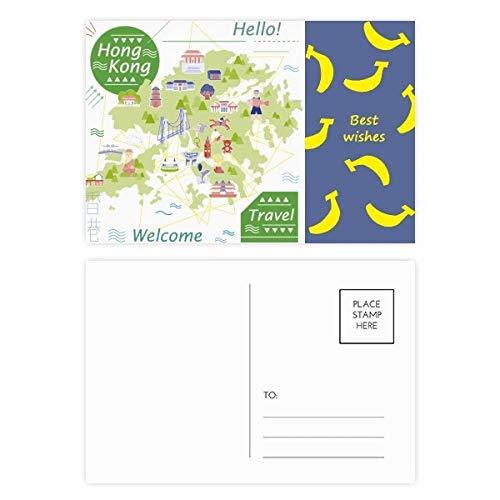 Hello Welcome to Hong Kong China Banana - Juego de tarjetas postales (20 unidades)
