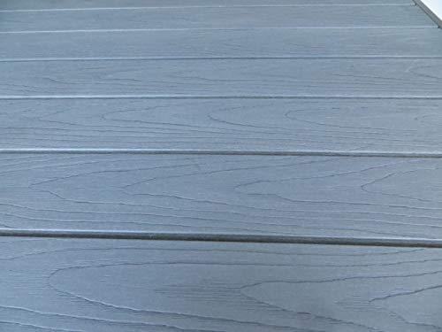 Pure Home & Garden Aluminium Gartentisch Fire Oblong mit Polywood Tischplatte, 100x70 cm absolut wetterfest, anthrazit…