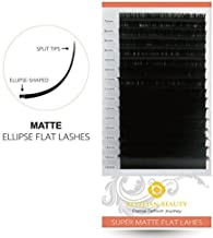 BEYELIAN MATTE Black Ellipse Flat Mink Eyelash Extensions Individual Semipermanent Lash Building D Curl 0.20mm Mixed Tray 7-15mm Assorted