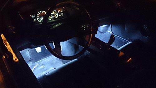 2 Piece Interior Footwell Trunk Light Strips Under Dash Kit (White)