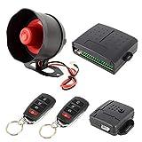 Alarma de coche Advertencia CCI coche de seguridad del sistema de alarma con dos controles remotos, DC 12V sistema de alerta de seguridad