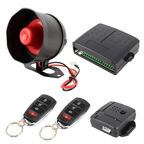 Alarm luchthoorn auto veiligheid waarschuwing alarmsysteem met twee afstandsbedieningen, afstandsbediening code annulering, DC 12V
