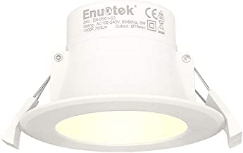 LED Small Recessed Ceiling Downlight Recessed Ceiling Lamp 8W 3000K Warm White Cut Hole 70-85MMΦ AC100~240V IP44 for Bathroom Kitchen 1 Pack by Enuotek