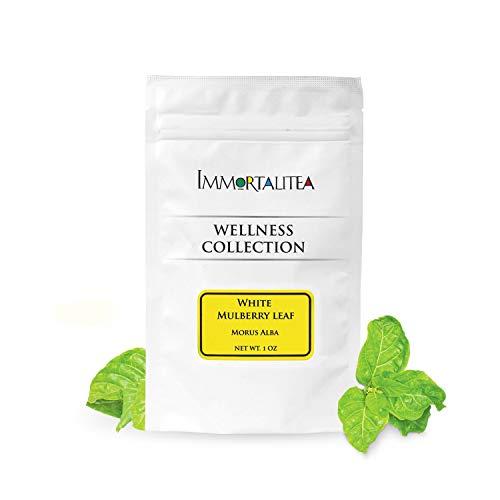 White Mulberry Tea - Loose Leaf - Blood Sugar Balance Herbal Tea - Pure Morus Alba - Caffeine-Free - 1 Ounce