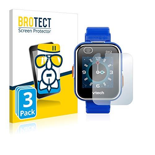 BROTECT Protector Pantalla Cristal Compatible con Vtech Kidizoom Smart Watch DX2 Protector Pantalla Vidrio (3 Unidades) - Dureza Extrema, Anti-Huellas