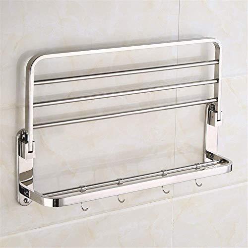 Candicely badkamerrek van roestvrij staal waterdicht SUS 304 roestvrij staal handdoekhouder met douche aan de muur in de badkamer/keuken voor decoratie thuis/keuken/badkamer