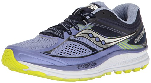 Saucony Women's Guide 10 Running Shoe, Purple Navy, 8 Medium US