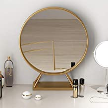 Copper Marble Base Dressing Table Mirror Modern Bedroom Bathroom Beauty Makeup