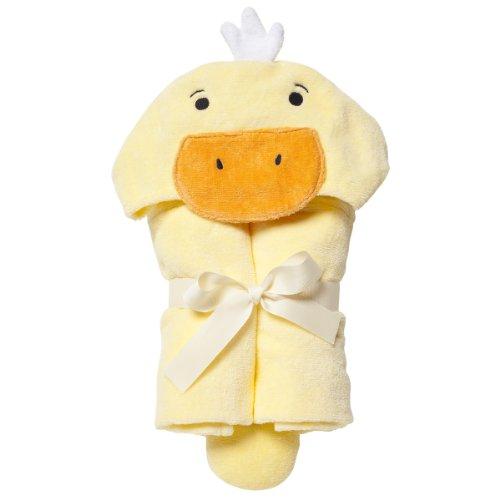 Elegant Baby Best Bath Gift - Cotton Towel Wrap, Soft Yellow Ducky