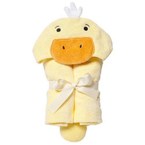 Elegant Baby Best Bath Gift - Cotton Towel Wrap, Soft Yellow Ducky