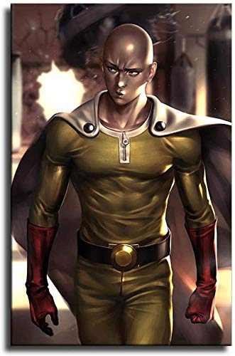 hgjfg 4k one Punch Man Canvas Art Poster and Wall Art Picture Print Modern Family Bedroom Decor Posters