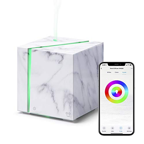 Smart WiFi Wireless Essential Oil Aromatherapy 200ml Ultrasonic Diffuser & Humidifier with Alexa & Google Home Phone App & Voice Control - Create Schedules - LED & Timer Settings