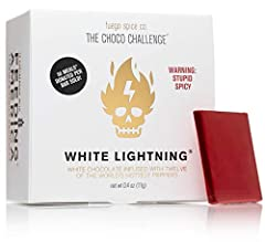 THE CHOCO CHALLENGE 2.0: Our 2nd spicy challenge, White Lightning, features the world's spiciest mini white chocolate bar and is fired up by 12 of the deadliest peppers in the world, all grown in mad scientist Smokin' Ed Currie's secret garden of dev...