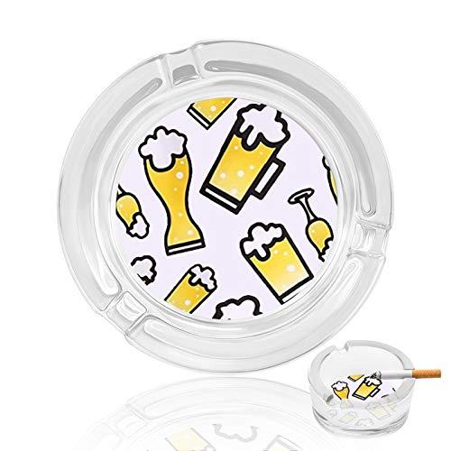 Posacenere in vetro, bicchieri da birra, posacenere per interni ed esterni, per camera da letto, portacenere robusto, ottimo regalo per fidanzati fumatori, ristoranti