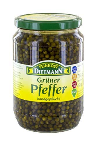 Feinkost Dittmann Grüner Pfeffer 720ml/450g Glas