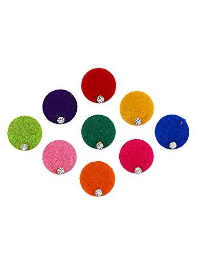 Anuradha Art Jewellery Richie Rich Multi Colour Round Shape Bindis...