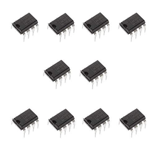 Movilideas 10 unidades de LM386N LM386 - Amplificador de potencia de audio de bajo voltaje (10 unidades, 300 kHz, 8 pines, PDIP Mono,DIP-8)