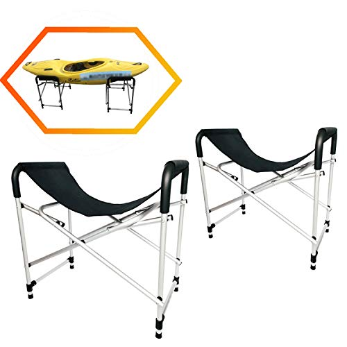 Onefeng Sports Foldable Kayak Ground Storage Stand Rack for Kayak Surfboard SUP Canoe - 29