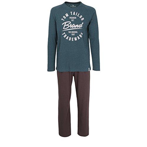 TOM TAILOR Herren Nachtwäsche Zweiteiliger Schlafanzug, Pyjama lang, aus Baumwolle 56