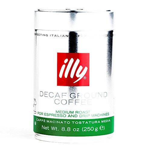 Illy Decaf Medium Roast Ground Coffee 8.8 oz each (1 Item Per Order)