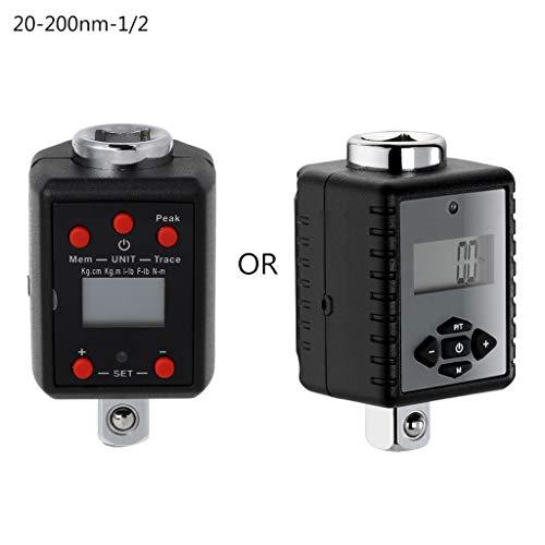 Luluspace Digitaler Drehmomentadapter Drehmomentschlüssel 1,5-1000nm Adapter 1/4 3/8 1/2 3/4 Microtorque (10-200nm-1/2)