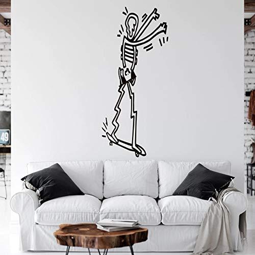 WERWN Arte Creativo Moda monopatín Pegatina de Pared Vinilo Edificio habitación de los niños decoración del hogar