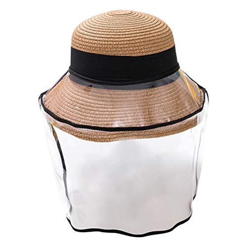 KESYOO 1 St Hoed Stofdicht Beschermende Zonnekap Buiten Visser Hoed Volledige Gelaatsscherm Beschermkap (Koffie Kinderen Stijl)