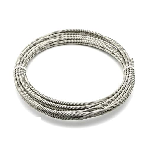 HXYIYG Wire Rope,Garden Wire Marine 1/8 Inch Stainless Steel Aircraft Wire Rope For Deck Cable Railing Kit 7x7 100/164 Feet (Size : 100Feet)