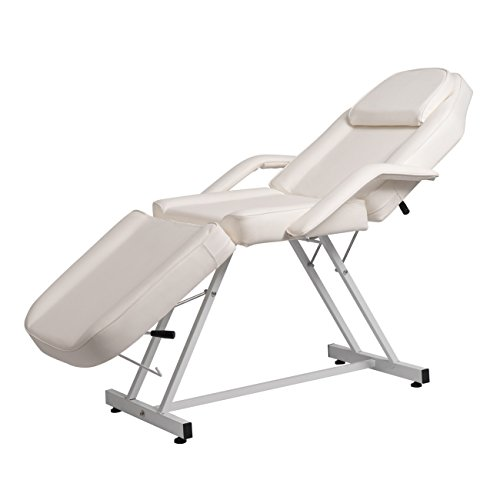 BELLAVIE Massage Facial Bed Adjustable Table Chair Beauty Spa Salon Tattoo Beauty, Cream