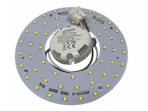 Vetrineinrete Circolina led 2835 modulo neon circolare 16 watt 265 volt ricambio neon per plafoniere luce calda fredda naturale (Luce calda 3000k) G71