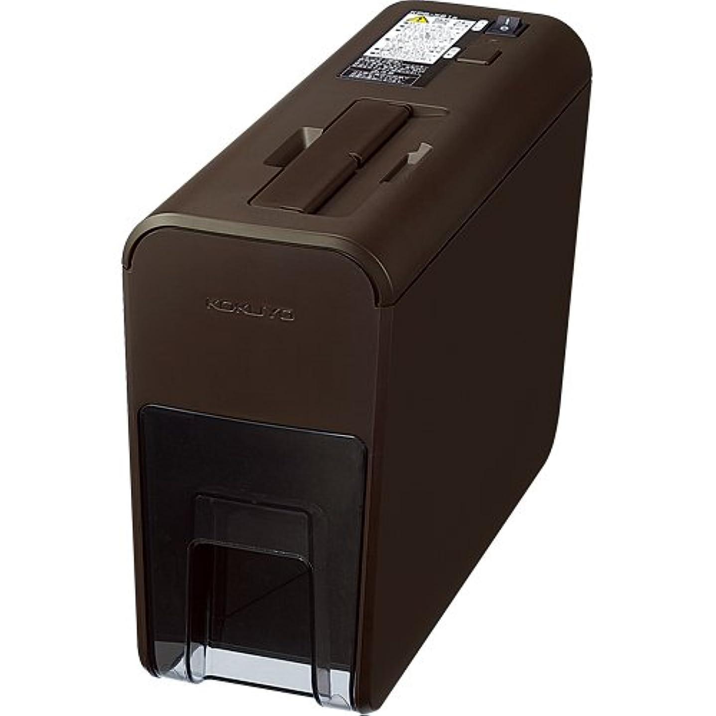 グローブ箱登録するコクヨ シュレッダー デスクトップ RELISH pix ブラウン KPS-X21S