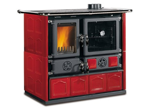 Wood Burning Cook Stove La Nordica 'Rosa Maiolica Bordeaux',...
